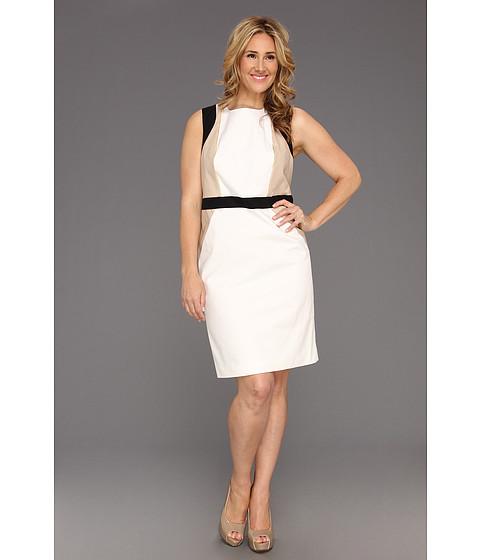 Rochii Calvin Klein - Plus Size Seamed Combo Dress - Soft White