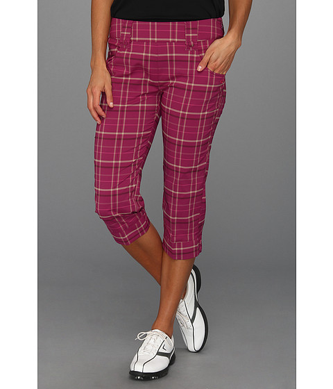 Pantaloni Oakley - Palm Plaid Capri - Magenta Purple