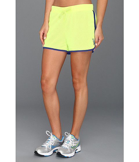 "Pantaloni Reebok - Workout Ready 4"" Mesh Short - Neon Yellow"
