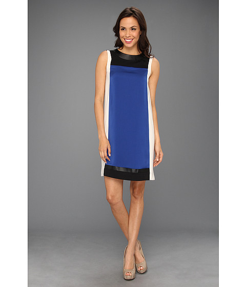 Rochii DKNY - Sleeveless Color Block Dress - Blueprint