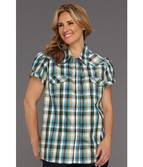 Bluze Roper - Plus Size 8566 Sunset Check - Green 2