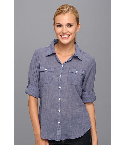Camasi Horny Toad - Airbrush L/S Shirt - Breton Blue Check