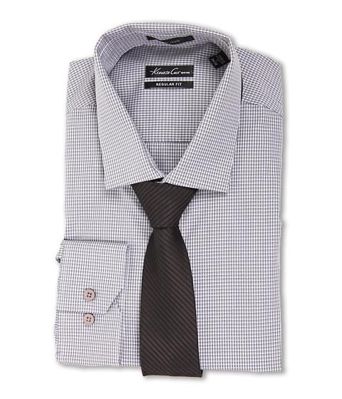 Camasi Kenneth Cole - Non-Iron Regular Fit Check Dress Shirt - Granite