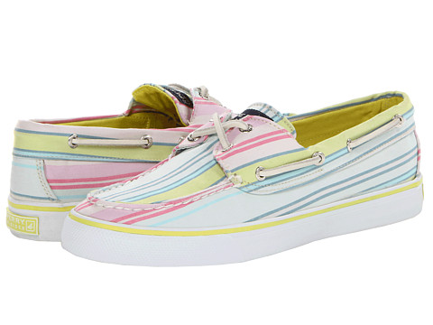 Pantofi Sperry Top-Sider - Bahama - Pink/Lime Stripe