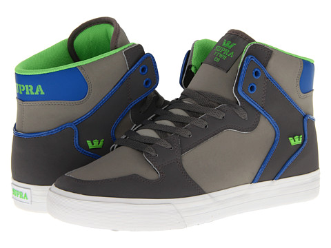 Adidasi Supra - Vaider - Charcoal/Royal/Lime