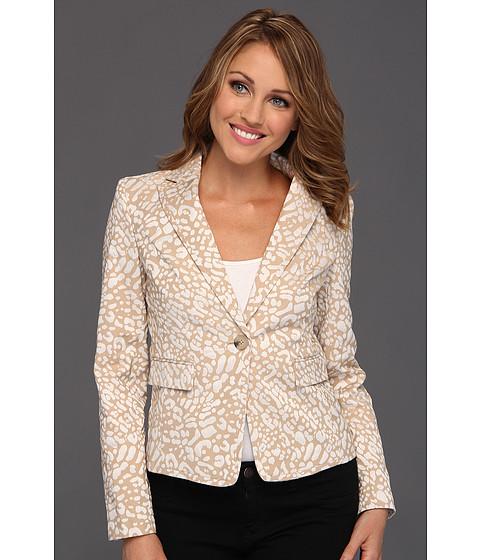 Jachete Anne Klein New York - Petite Leopard Jacquard Jacket - Oak/Camellia Multi