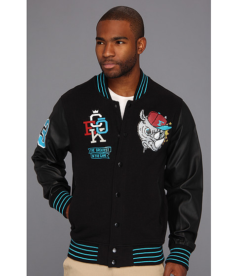 Jachete ECKO - Component Fleece Varsity Jacket - Black