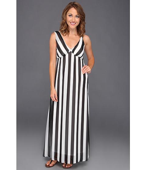 Rochii Type Z - Kirisi Vertical Stripe Maxi Dress - Black