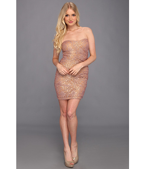 Rochii Type Z - Rowan Strapless Lace Dress - Mauve