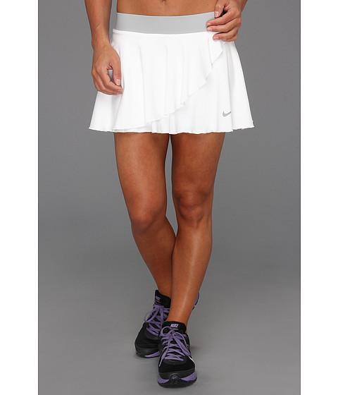 Fuste Nike - Ruffle Knit Skirt - White/Strata Grey/Matte Silver