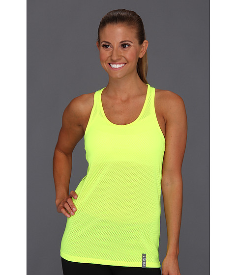 Tricouri Under Armour - UA Fly-By Stretch Mesh Tank - High-Vis Yellow/Silver/Reflective