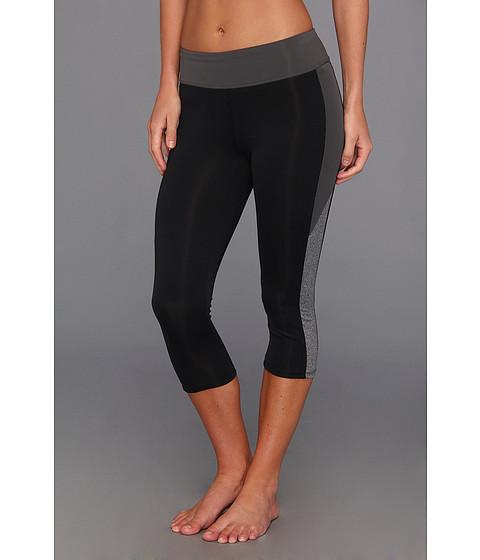 Pantaloni New Balance - Heather Inset Capri - Black/Magnet