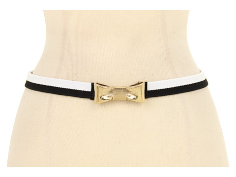 Curele Kate Spade New York - Bow Tie Elastic Belt - Black/Clotted Cream