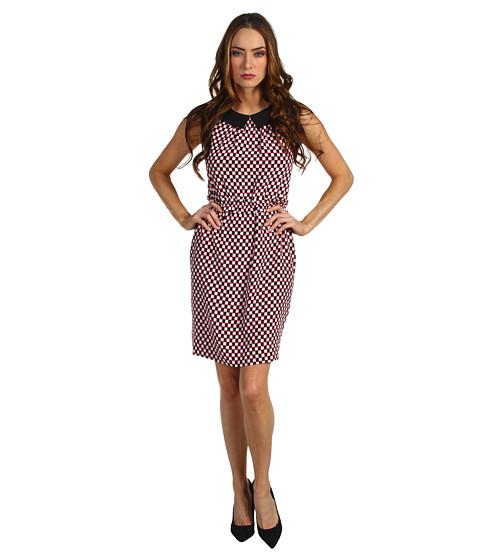 Rochii Kate Spade New York - Neal Dress - Bazooka Pink/Black/Clotted Cream Benay Dot