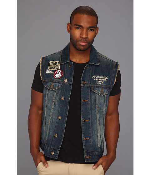 Jachete ECKO - Nitro Wash Denim Vest - Nitro Wash