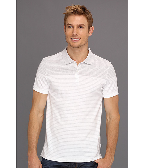 Tricouri Calvin Klein - S/S 2 Button Liquid Jersey Polo - White