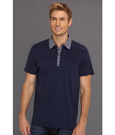 Tricouri Calvin Klein - S/S 4 Button Liquid Interlock Polo - Dress Blue