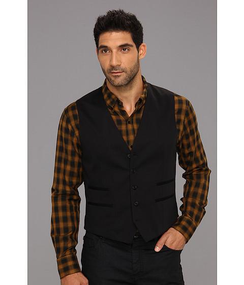 Jachete John Varvatos - 5B Vest w/ Besom Pockets - Black