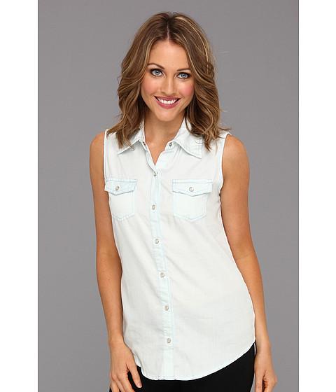 Tricouri Gabriella Rocha - Crecent Chambray Shirt w/Lace Back - Light Blue