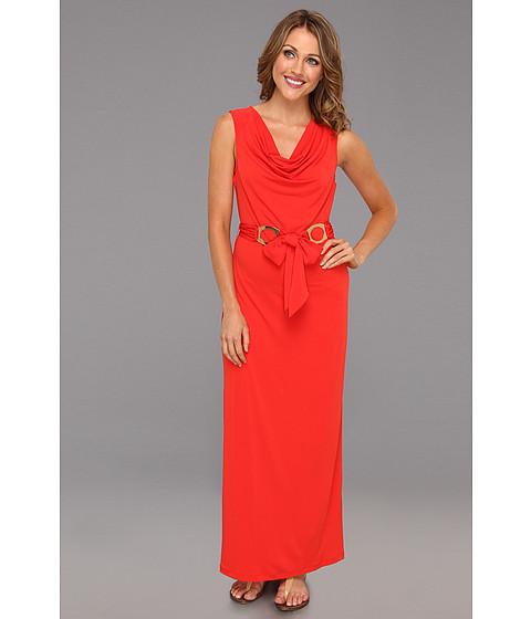 Rochii Calvin Klein - Cowl Neck Maxi Dress - Tango Red