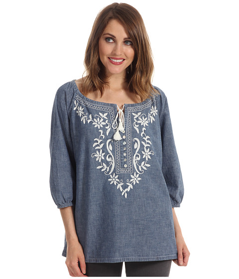 Bluze Tommy Bahama - Chambray Embroidered Top - Indigo