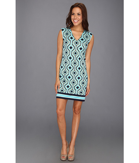 Rochii Michael Kors - Argyle Sleeveless Border Hem Dress - Turquoise