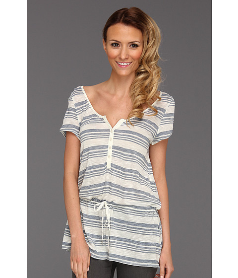 Tricouri Calvin Klein - Space Dye Stripe Top - Biro Blue