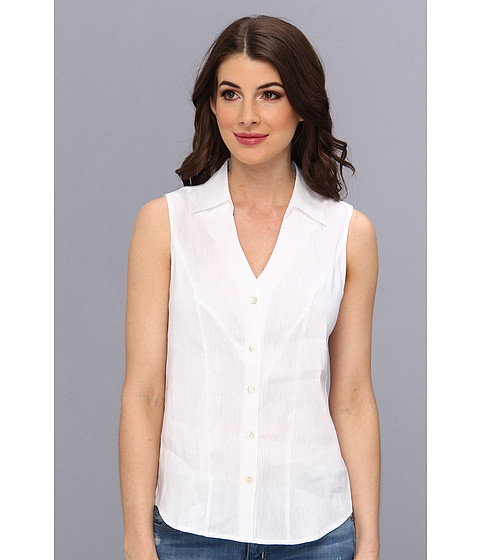 Bluze NIC+ZOE - Caliente Seamed Sleeveless Top - Paper White