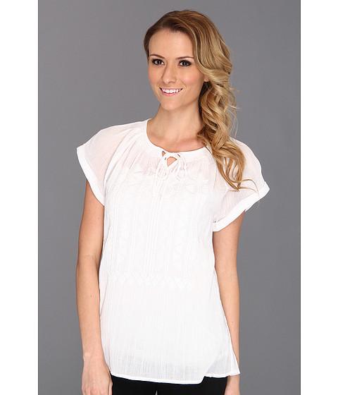 Tricouri Calvin Klein - Crinkle Gauze Top - White 1