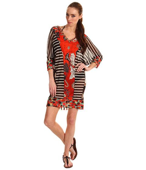 Rochii Jean Paul Gaultier - Patchwork Stripe/Print Tunic - Red