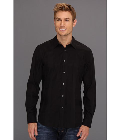 Tricouri Calvin Klein - L/S Plaid Oversized Check Dobby Woven - Black