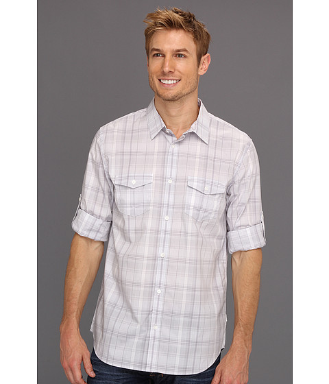Tricouri Calvin Klein - Roll-Up Sleeve End On End Plaid Woven - Coldfront