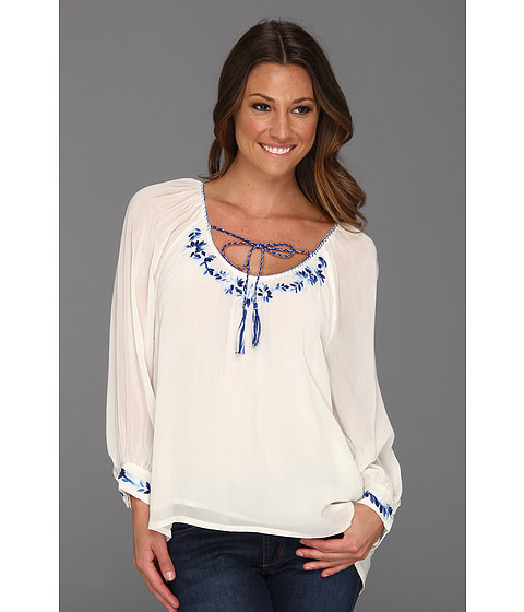 Bluze Sanctuary - Embroidered Gypsy Top - White