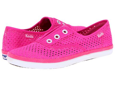 Balerini Keds - Rookie Laceless Perf - Neon Pink