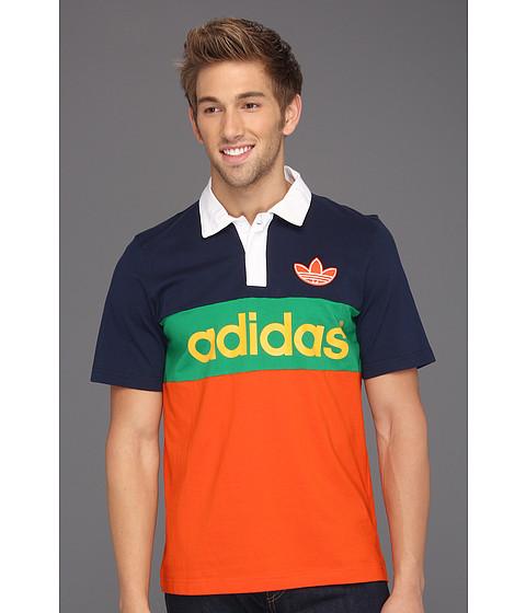Tricouri Adidas Originals - Colorblock Polo - Collegiate Orange/Dark Indigo