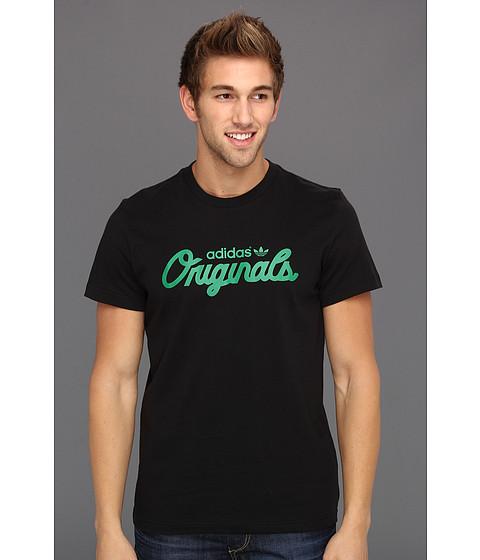 Tricouri Adidas Originals - Scripted S/S Tee - Black/Fairway