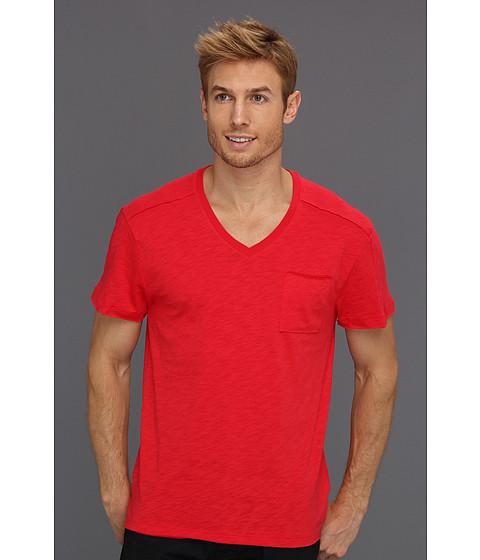Tricouri Calvin Klein - Pieced S/S V-Neck w/ Pocket - Snapper
