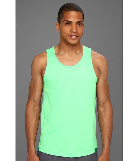 Tricouri Nike - Miler Singlet (Team) - Poison Green/Poison Green/Reflective Silver