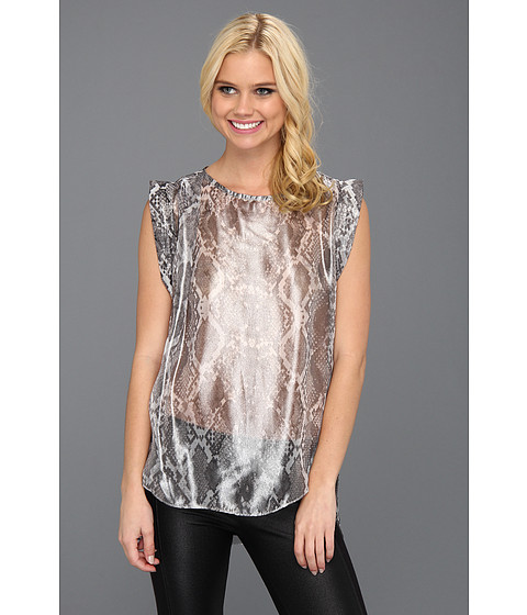 Bluze Kenneth Cole - Katie Snake-Print Top - Black Combo