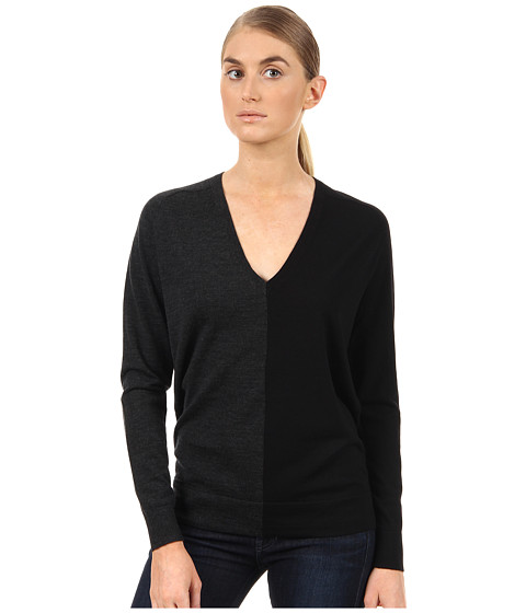 Pulovere Theory - Adrianna CB Top - Charcoal