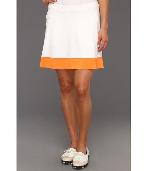 Fuste Nike - Color Band Skort - White/Orange Horizon