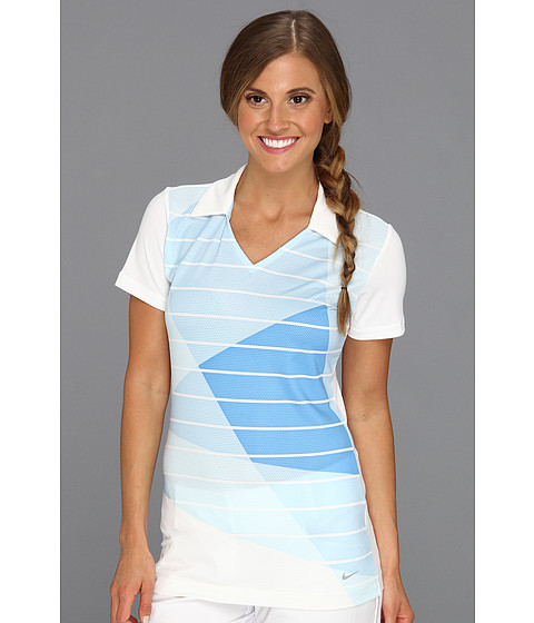Tricouri Nike - Graded Graphic Polo - White/Ice Blue