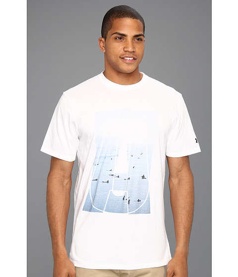 Tricouri Under Armour - UA Line Up Charged Cottonî Tee - White/White