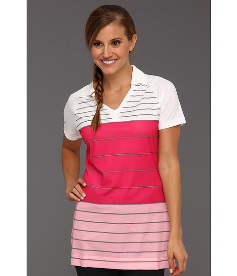 Tricouri Nike - Stripe Tunic Polo - White/Ion Pink