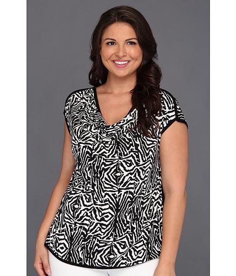 Bluze Vince Camuto - Plus Size S/S Zebra Top - Rich Black