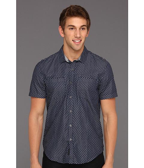 Tricouri Calvin Klein - Denim Polka Dot S/S Shirt - Dark Wash