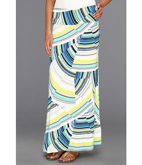 Fuste Karen Kane - Electric Tide Folded Waistband Skirt - Multi Print