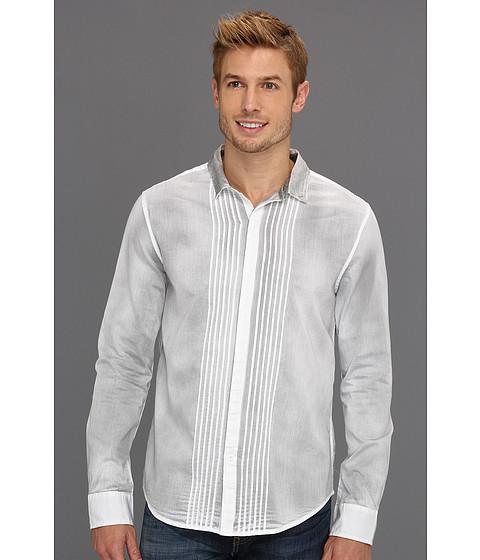 Tricouri Calvin Klein - Ambit Stripe Spray Tuxedo Shirt - White