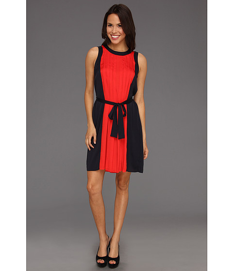 Rochii Michael Kors - Petite Size Sleeveless Colorblock Dress - Cherry