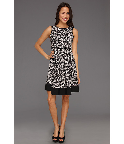 Rochii Vince Camuto - Sleeveless A-Line Abstract Dress - Rich Black